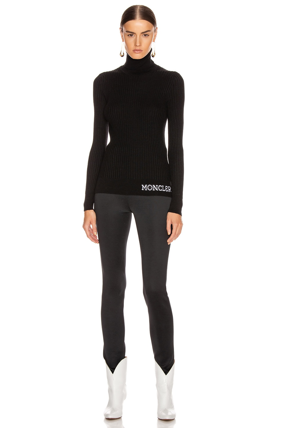 Image 5 of Moncler Tricot Cyclist Sweater in Black