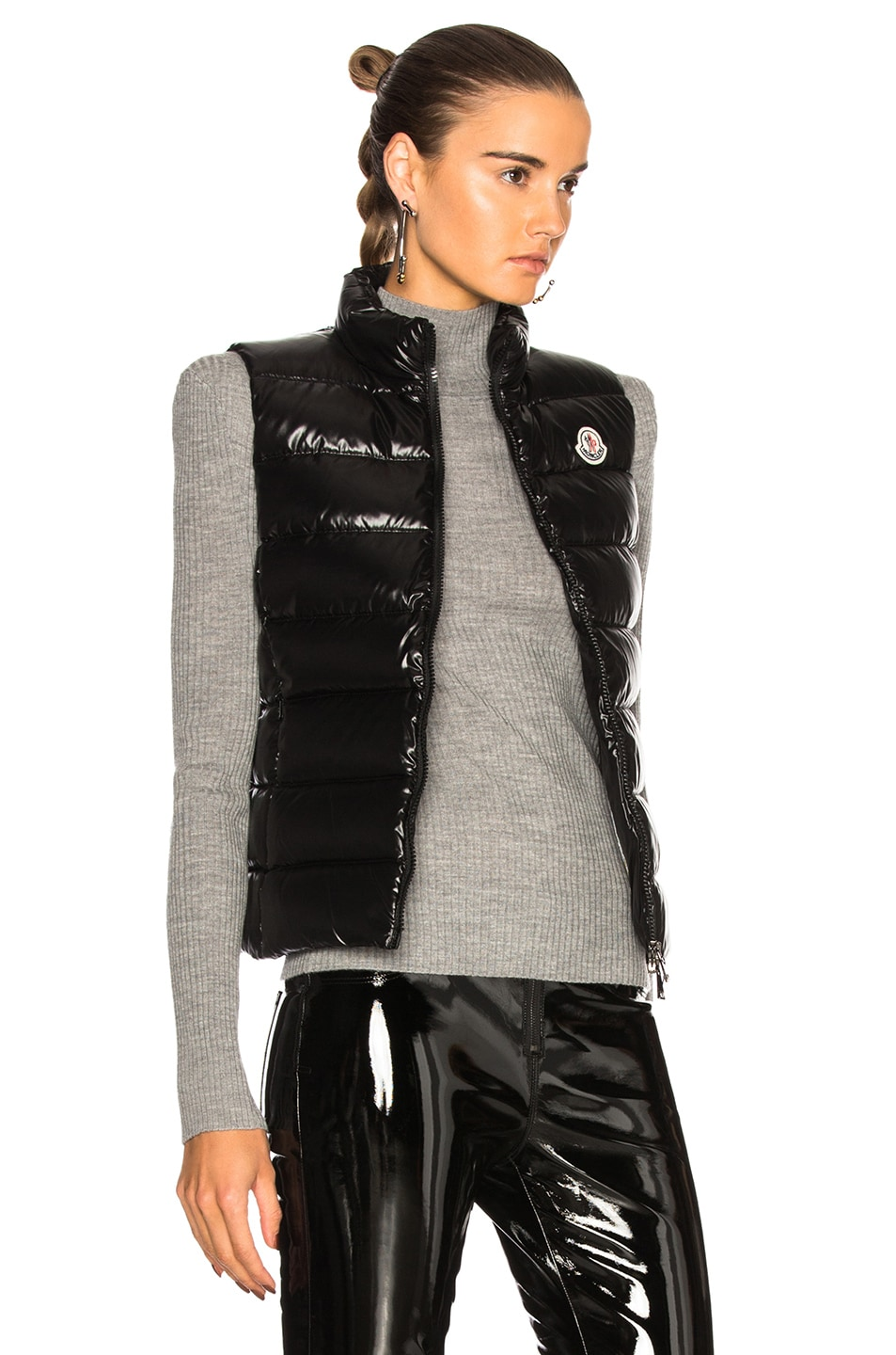Image 3 of Moncler Ghany Gilet Vest in Black