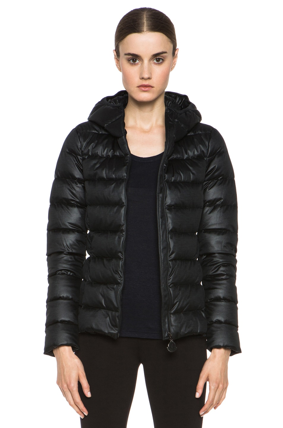 Image 1 of MONCLER Jersey Poly Jacket in Black