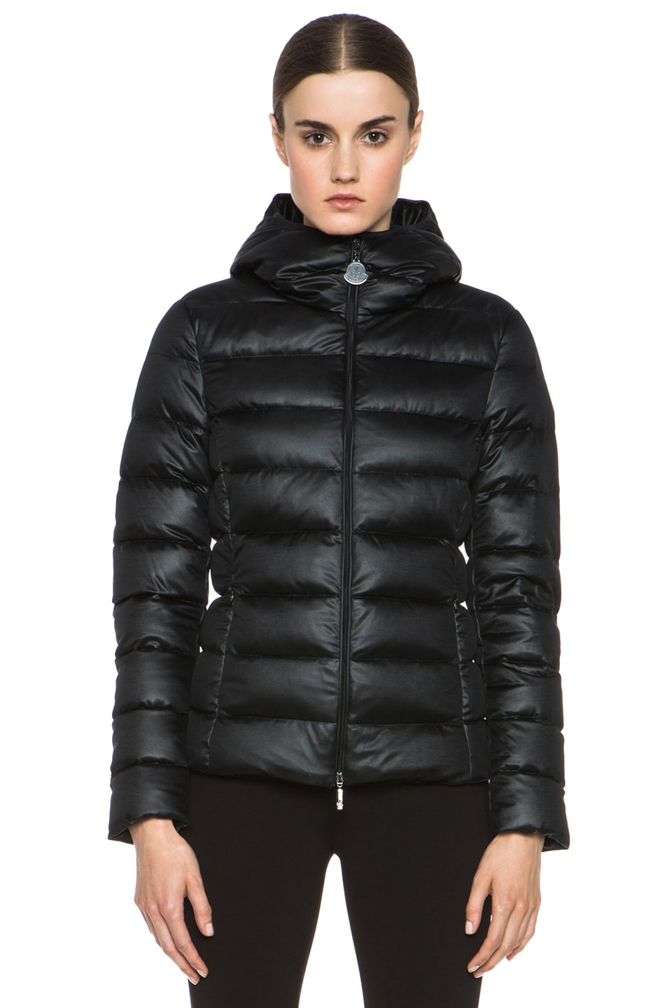 Image 2 of MONCLER Jersey Poly Jacket in Black