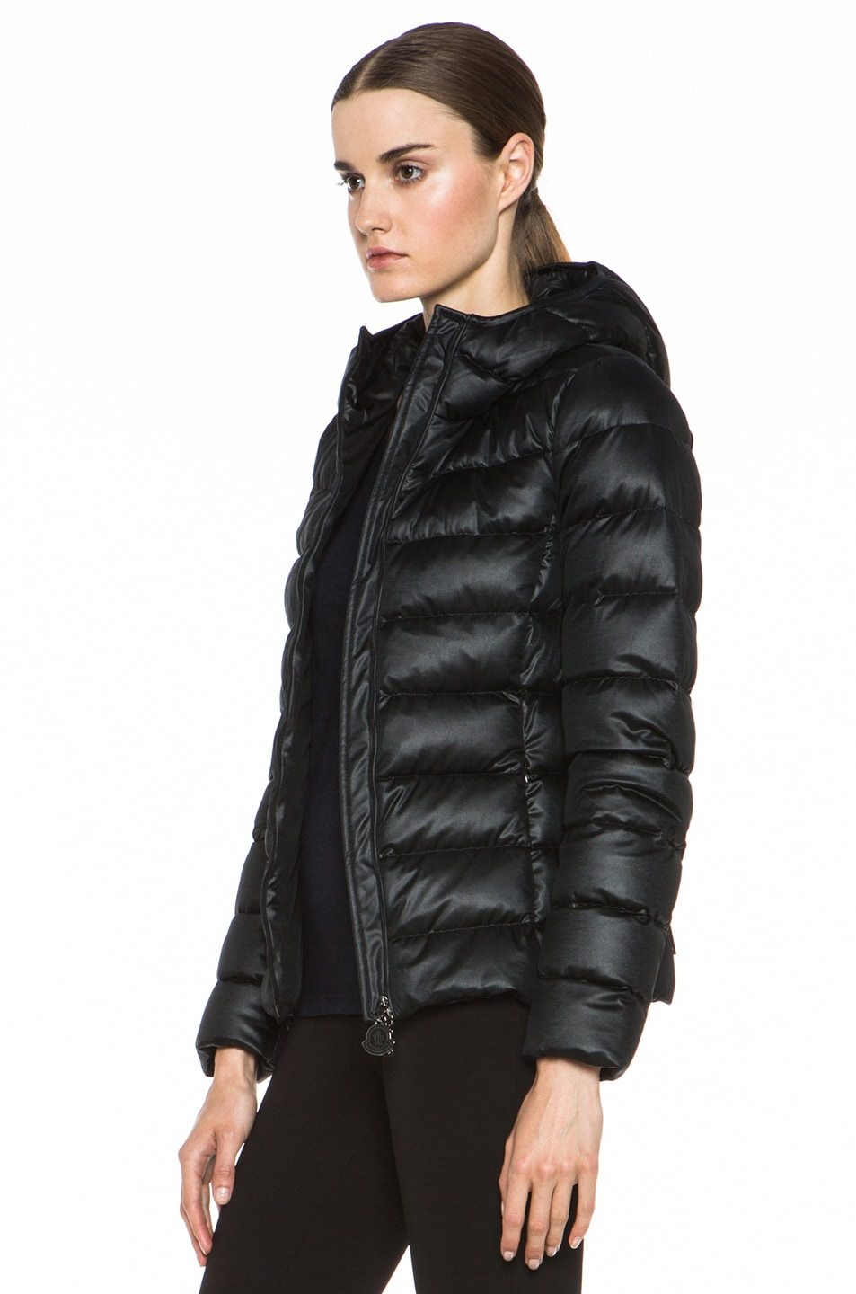 Image 3 of MONCLER Jersey Poly Jacket in Black