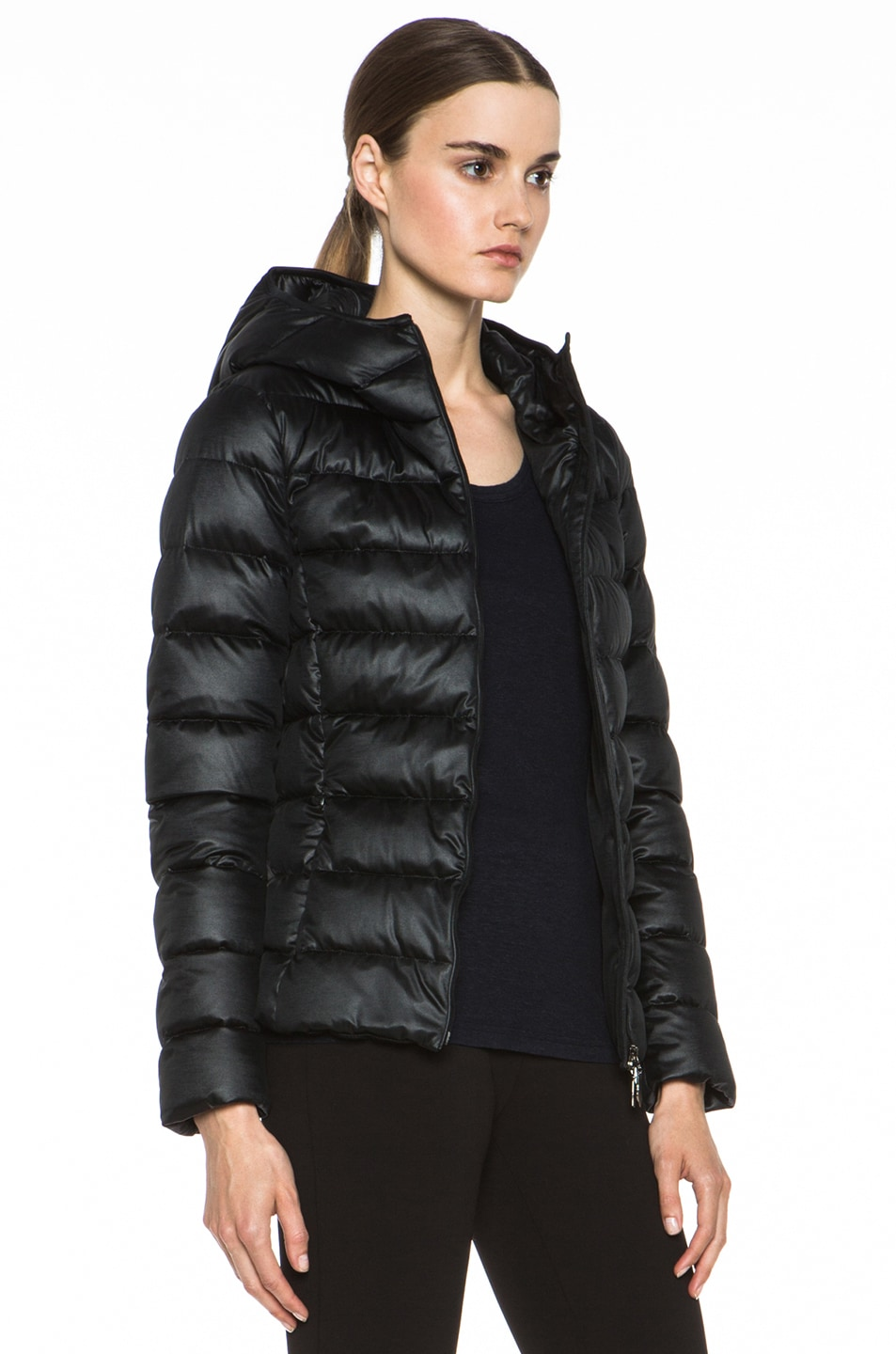 Image 4 of MONCLER Jersey Poly Jacket in Black