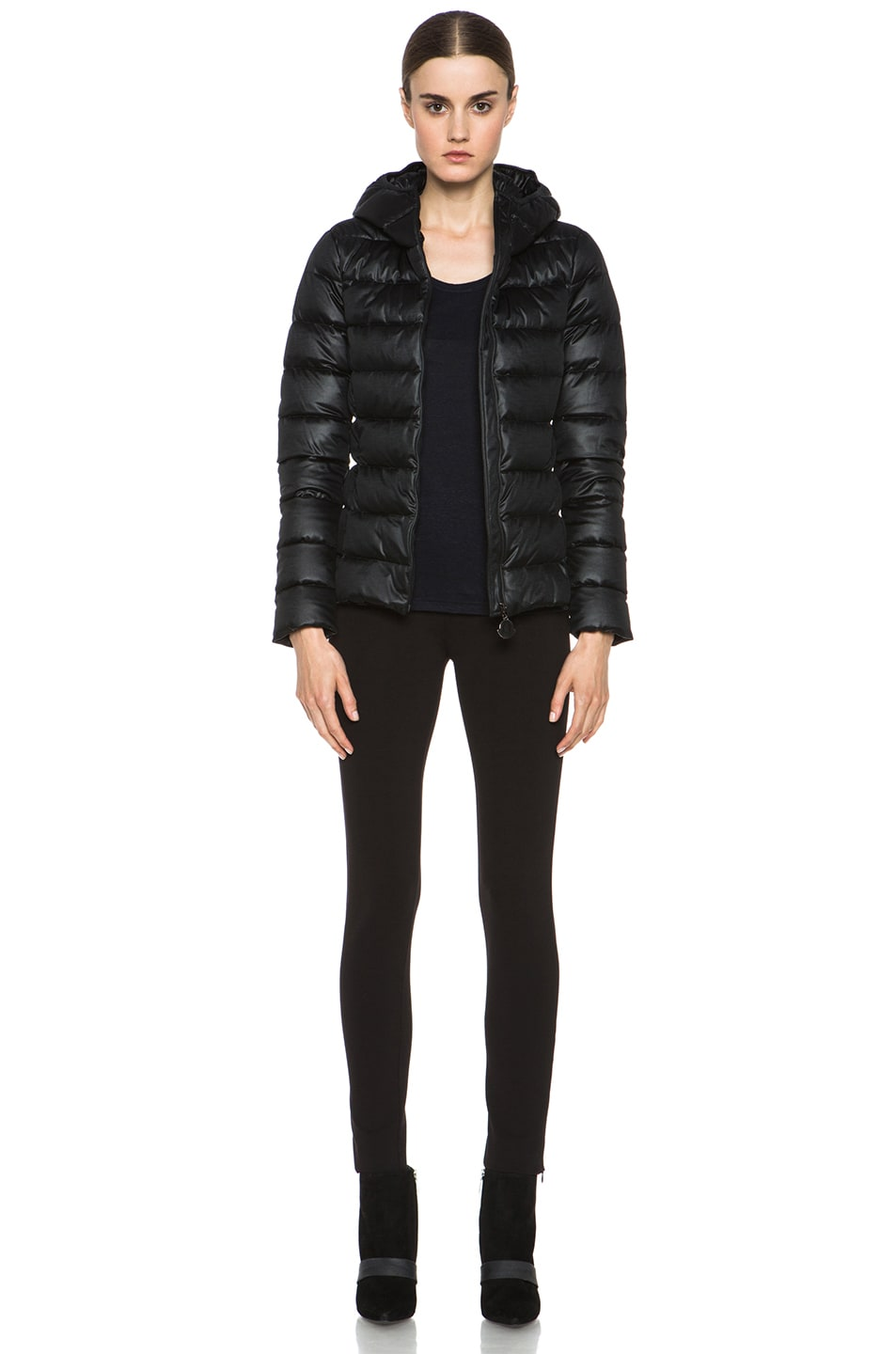 Image 6 of MONCLER Jersey Poly Jacket in Black
