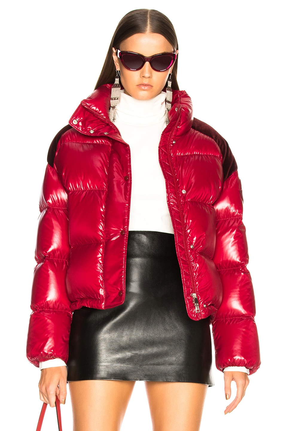 Image 1 of Moncler Chouette Giubotto Jacket in Red