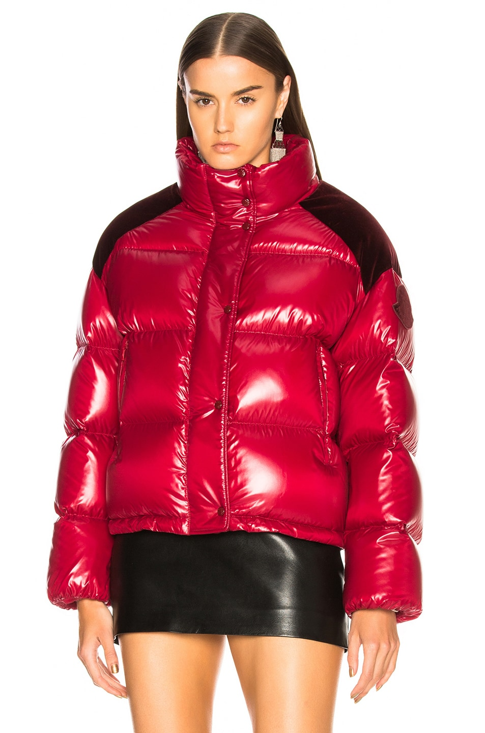 Image 2 of Moncler Chouette Giubotto Jacket in Red