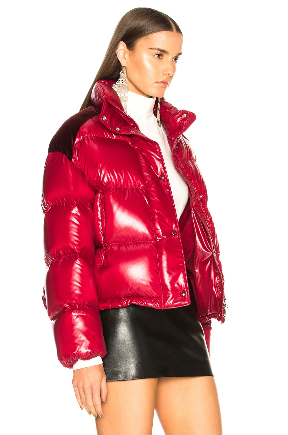 Image 3 of Moncler Chouette Giubotto Jacket in Red