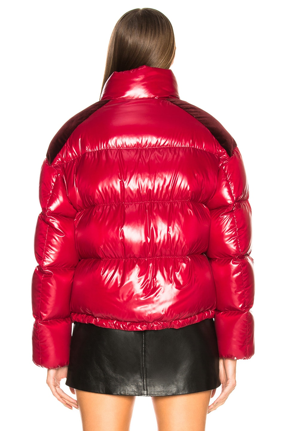 Image 4 of Moncler Chouette Giubotto Jacket in Red