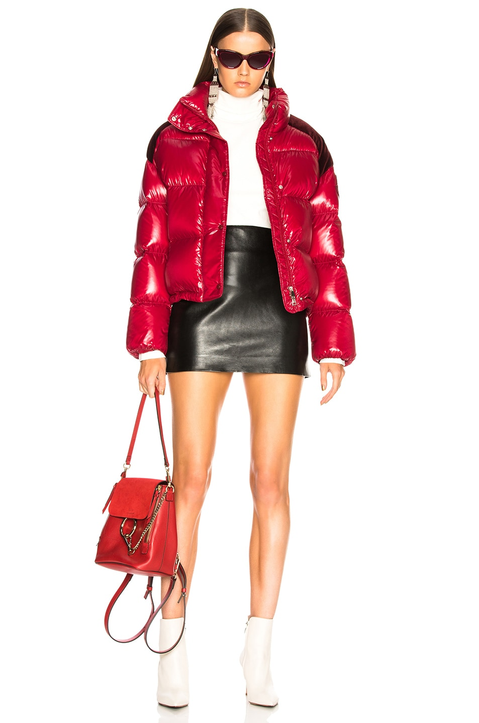 Image 5 of Moncler Chouette Giubotto Jacket in Red