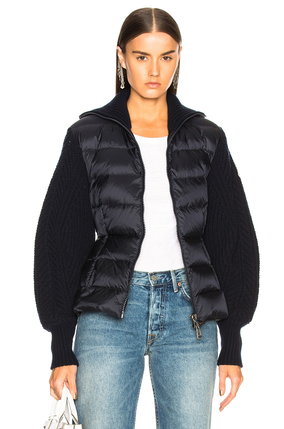 Image 1 of Moncler Maglione Tricot Cardigan in Navy