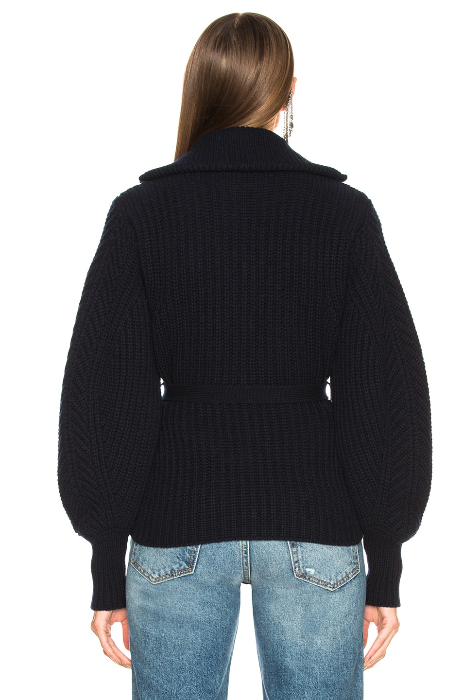 Image 4 of Moncler Maglione Tricot Cardigan in Navy