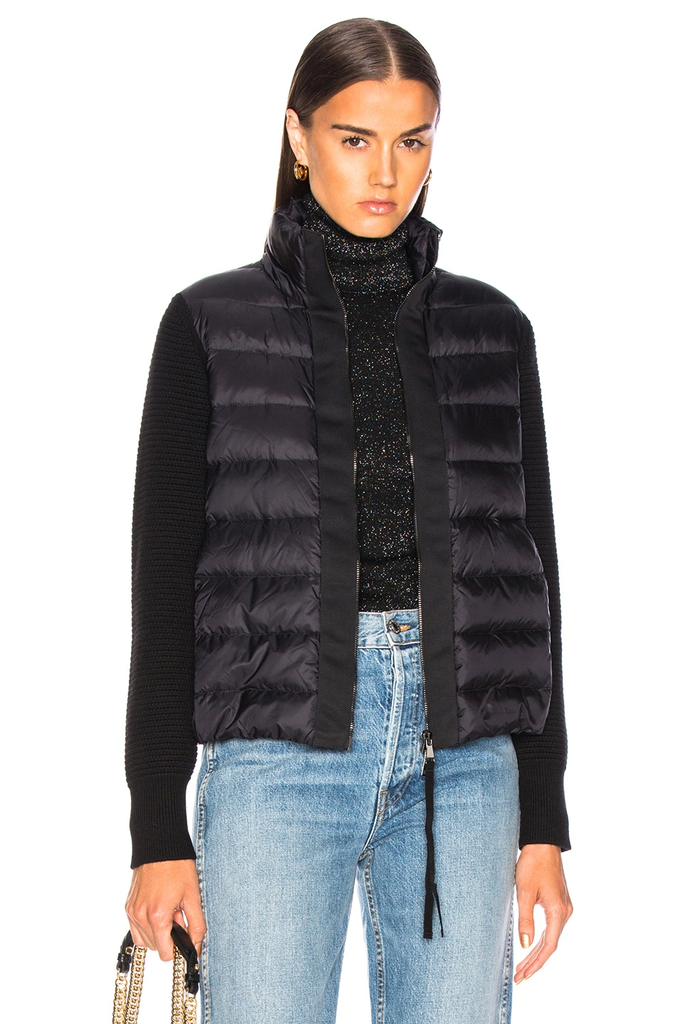 Image 1 of Moncler Maglione Tricot Cardigan in Black