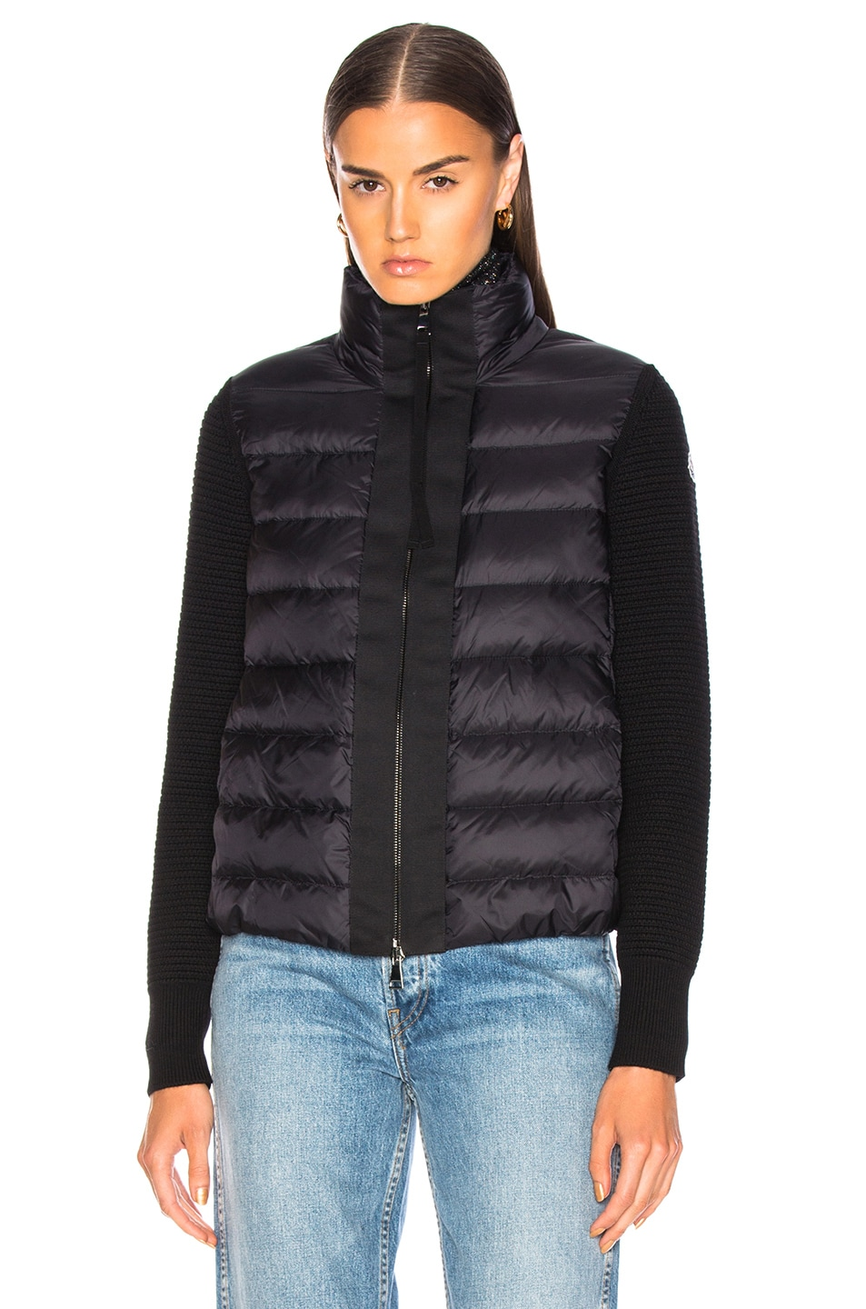 Image 2 of Moncler Maglione Tricot Cardigan in Black