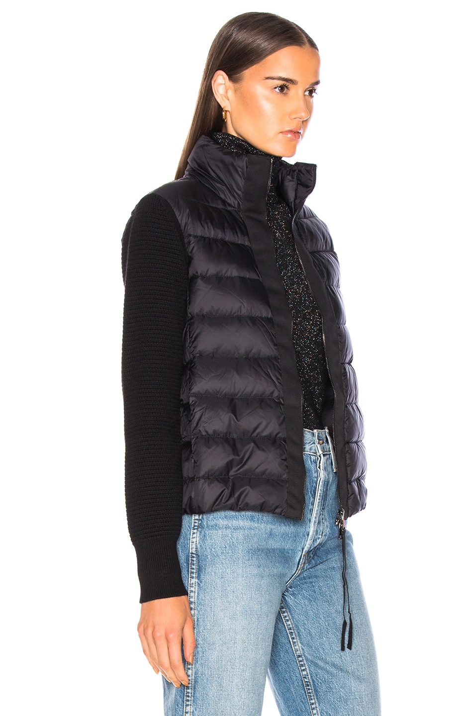 Image 3 of Moncler Maglione Tricot Cardigan in Black