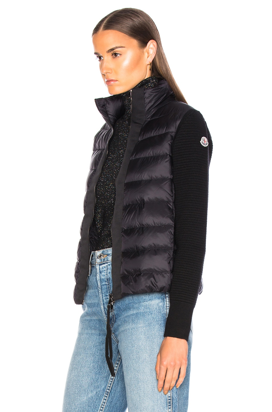 Image 4 of Moncler Maglione Tricot Cardigan in Black