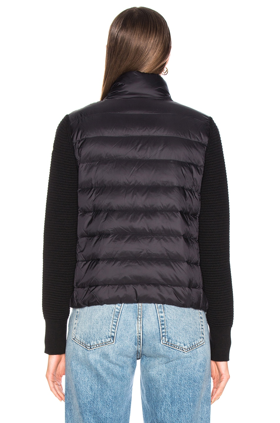 Image 5 of Moncler Maglione Tricot Cardigan in Black