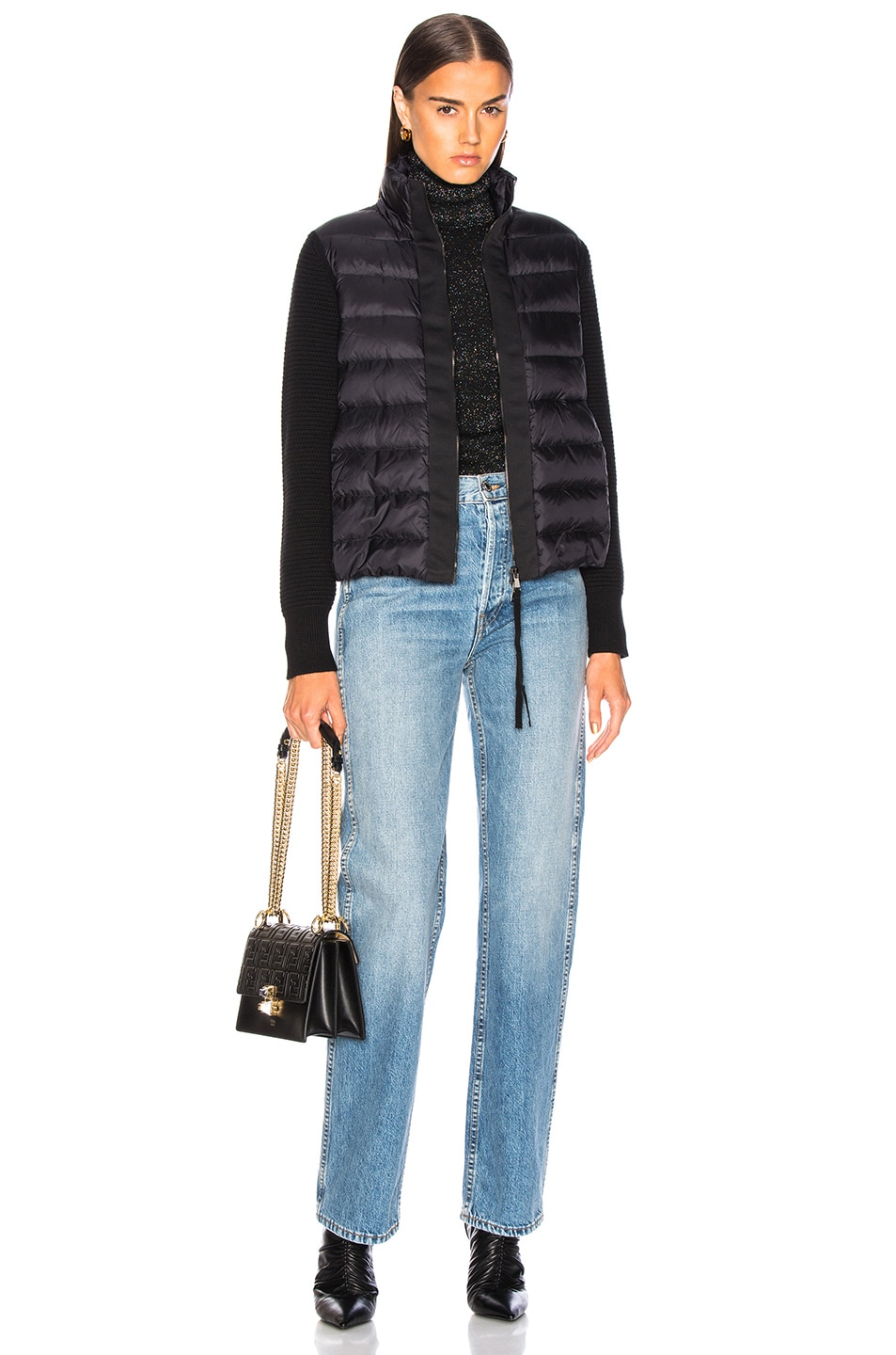 Image 6 of Moncler Maglione Tricot Cardigan in Black