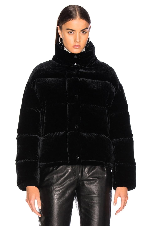 Image 2 of Moncler Caille Velvet Jacket in Black
