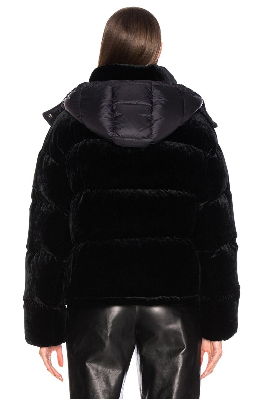 Image 5 of Moncler Caille Velvet Jacket in Black
