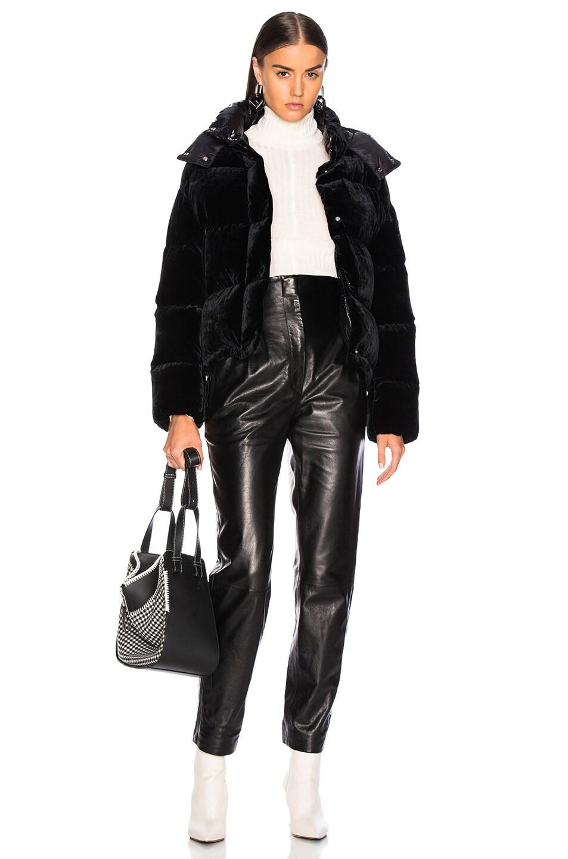 Image 6 of Moncler Caille Velvet Jacket in Black