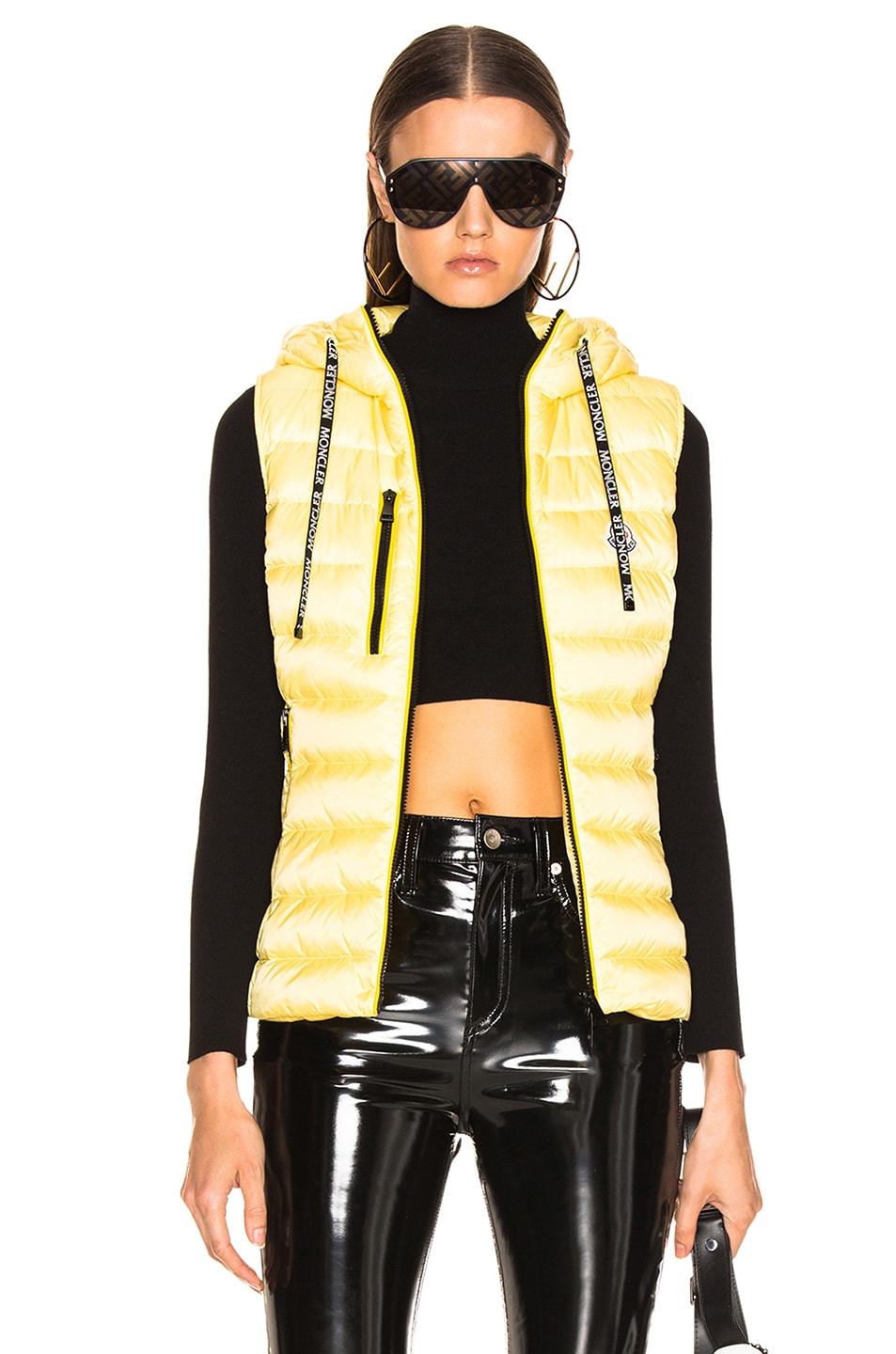 Image 1 of Moncler Sucrette Vest in Yellow
