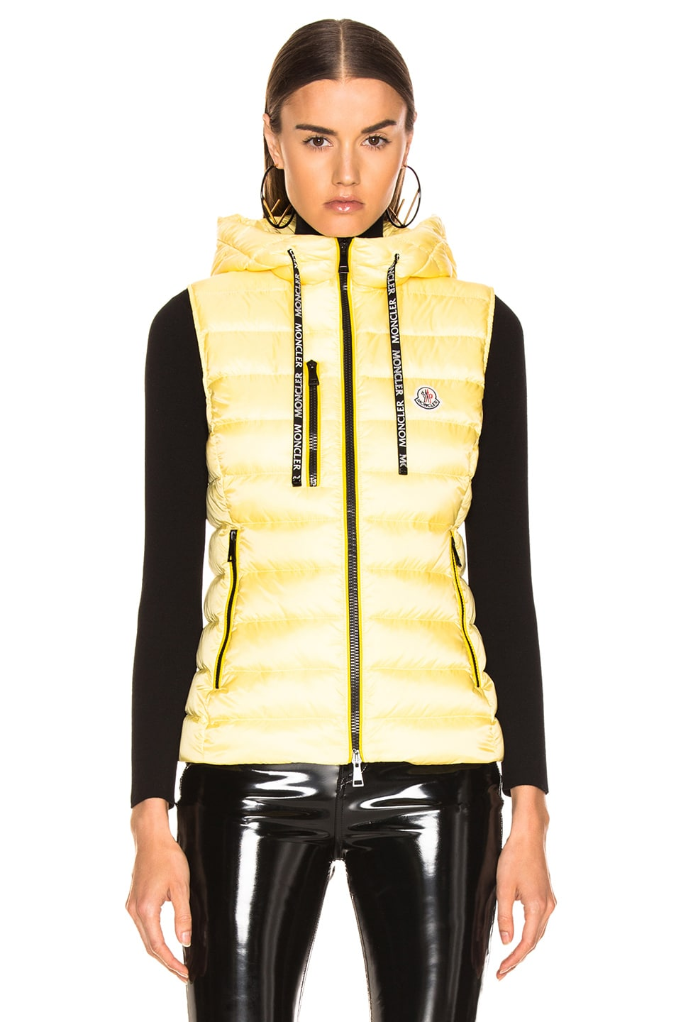 Image 2 of Moncler Sucrette Vest in Yellow