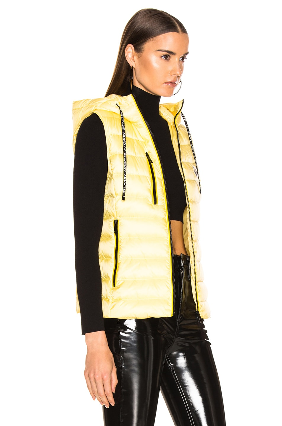 Image 3 of Moncler Sucrette Vest in Yellow