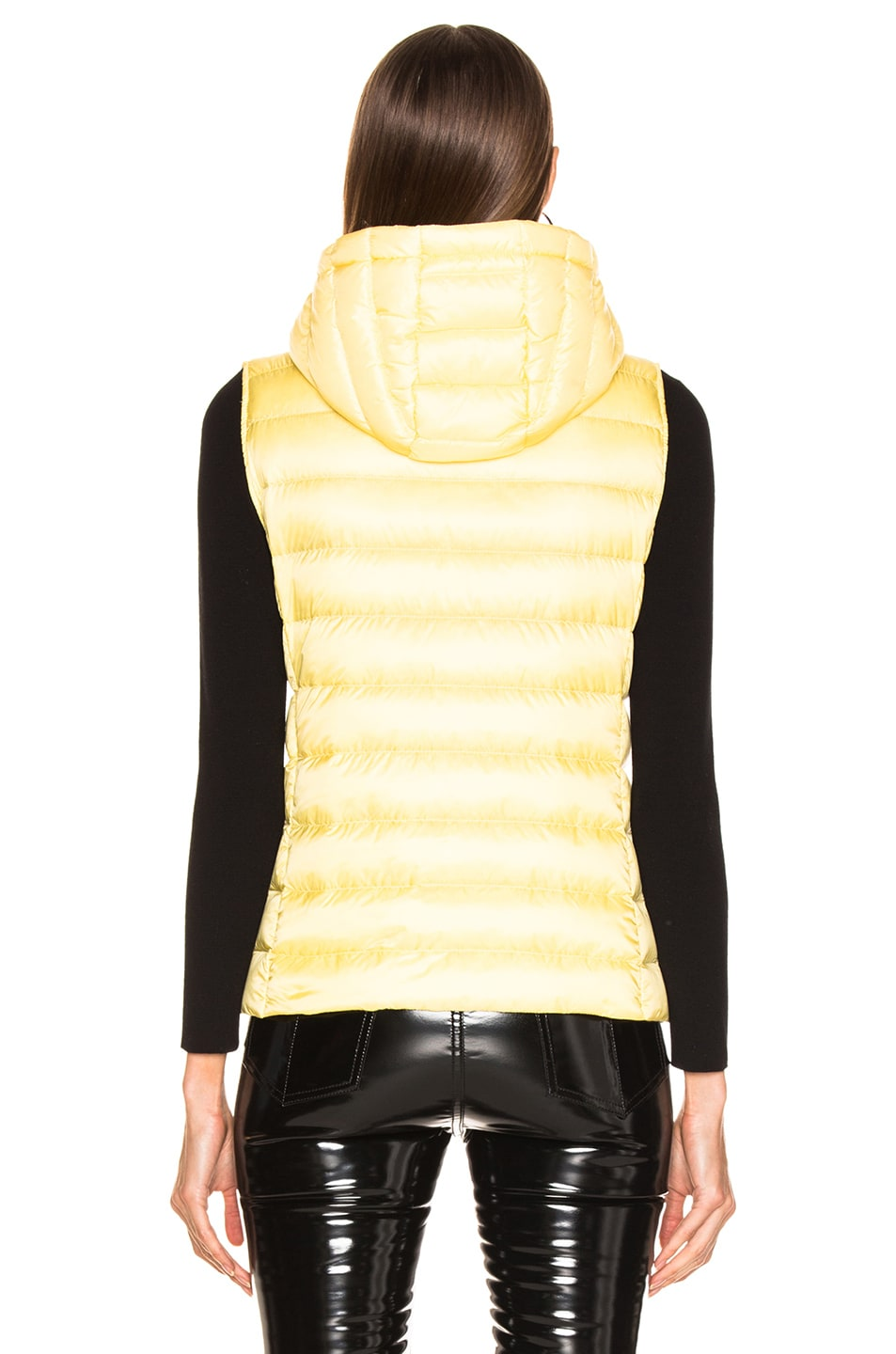 Image 4 of Moncler Sucrette Vest in Yellow