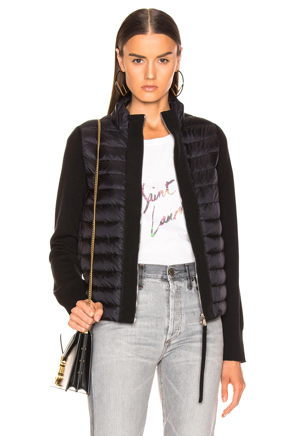 Image 1 of Moncler Zip Cardigan in Black