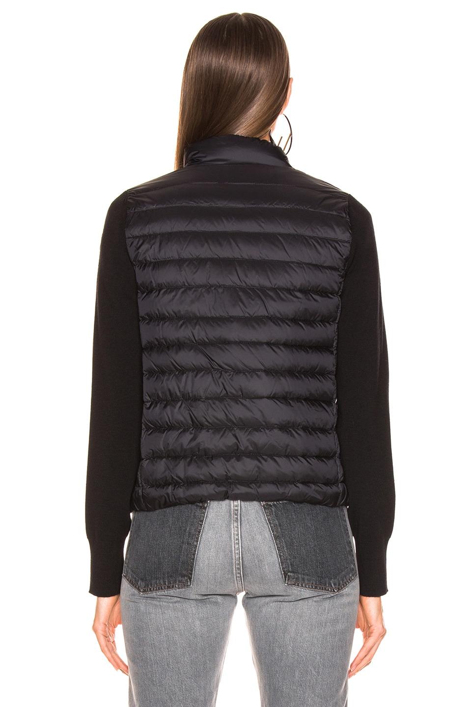 Image 5 of Moncler Zip Cardigan in Black