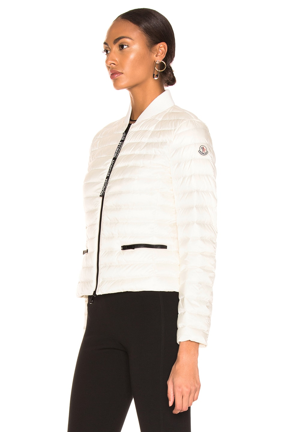 Image 4 of Moncler Blenca Biker Jacket in White