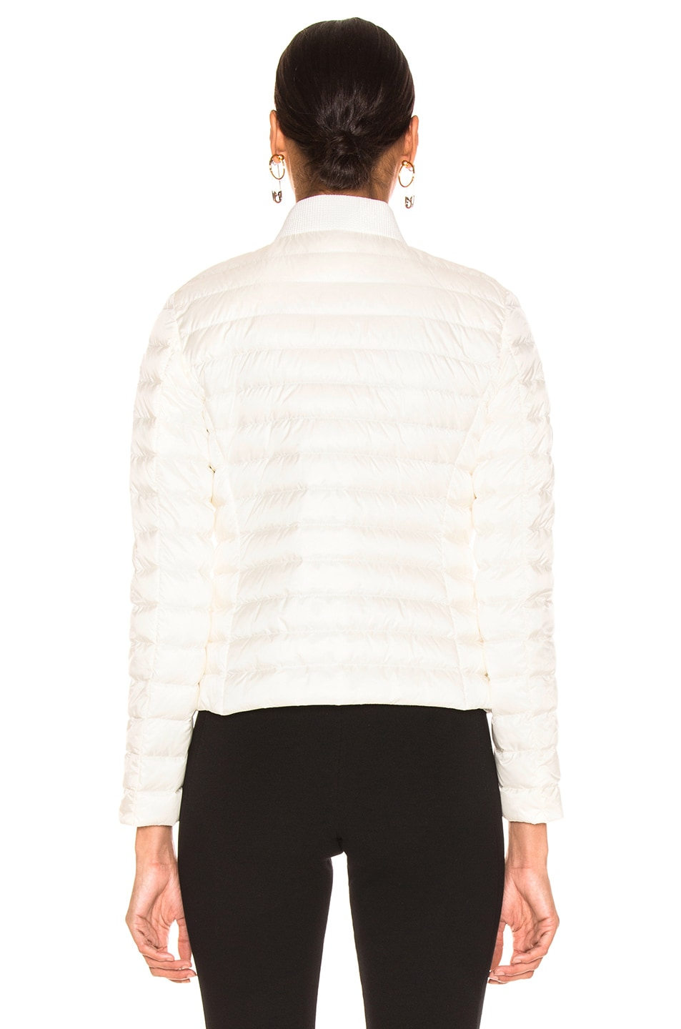 Image 5 of Moncler Blenca Biker Jacket in White