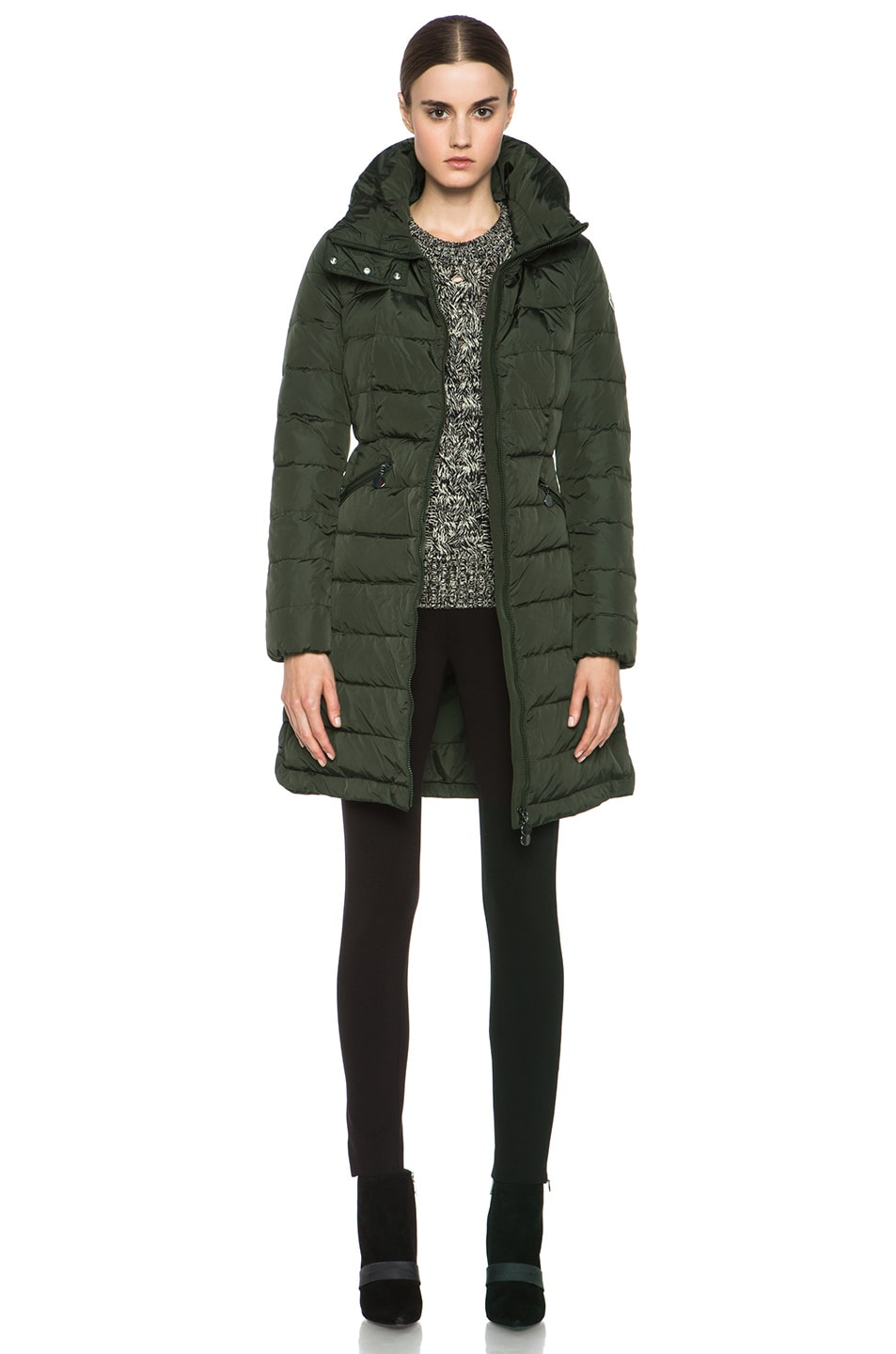 Image 1 of MONCLER Flamme Coat in Olive