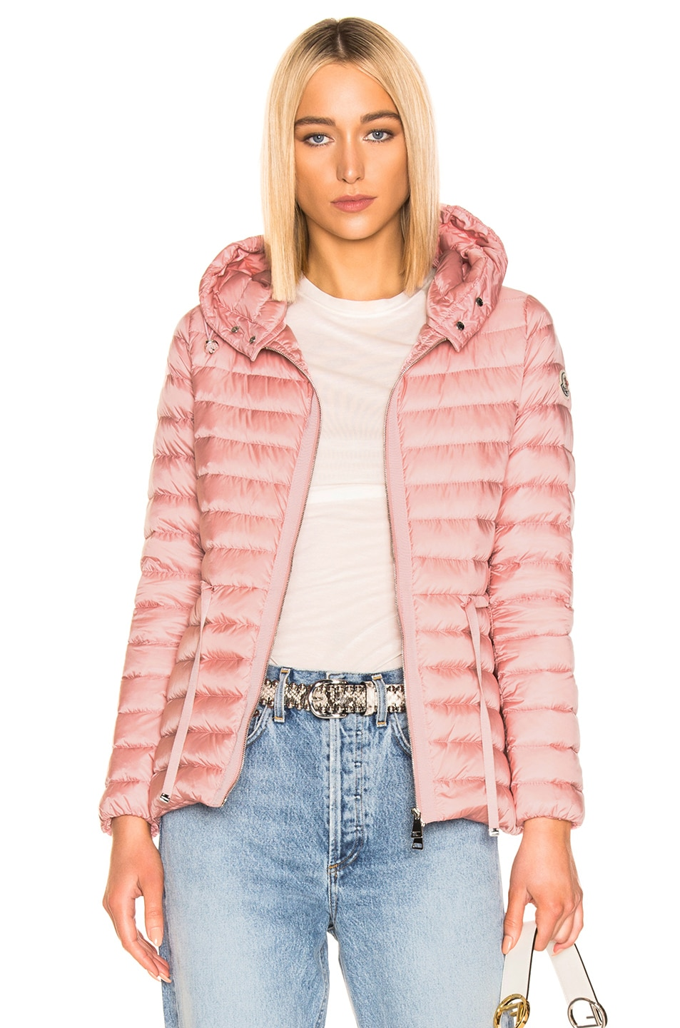 Image 1 of Moncler Raie Short Parka in Blush