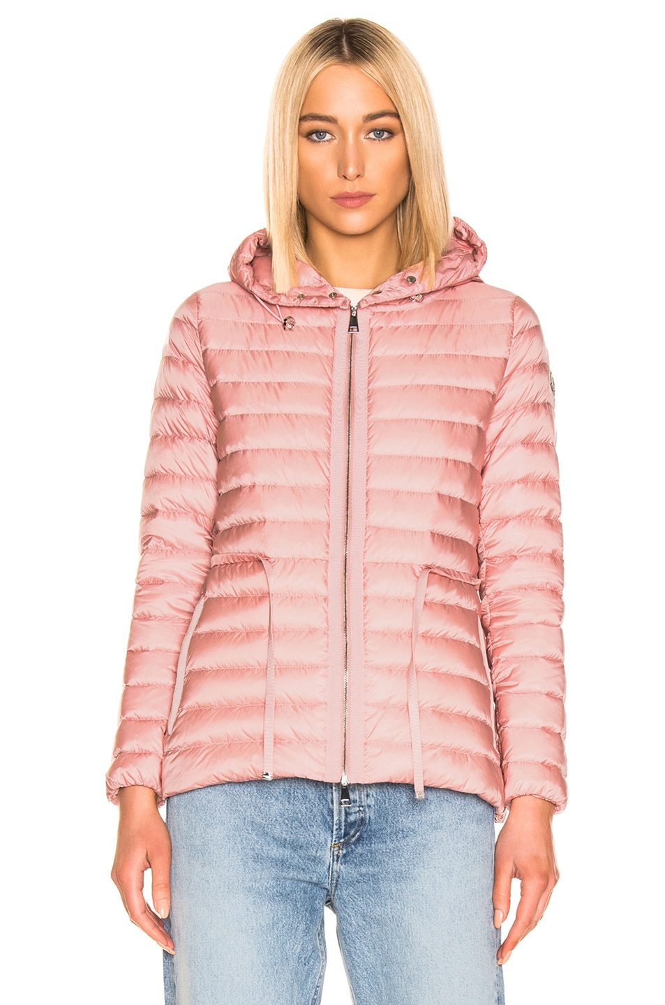 Image 2 of Moncler Raie Short Parka in Blush