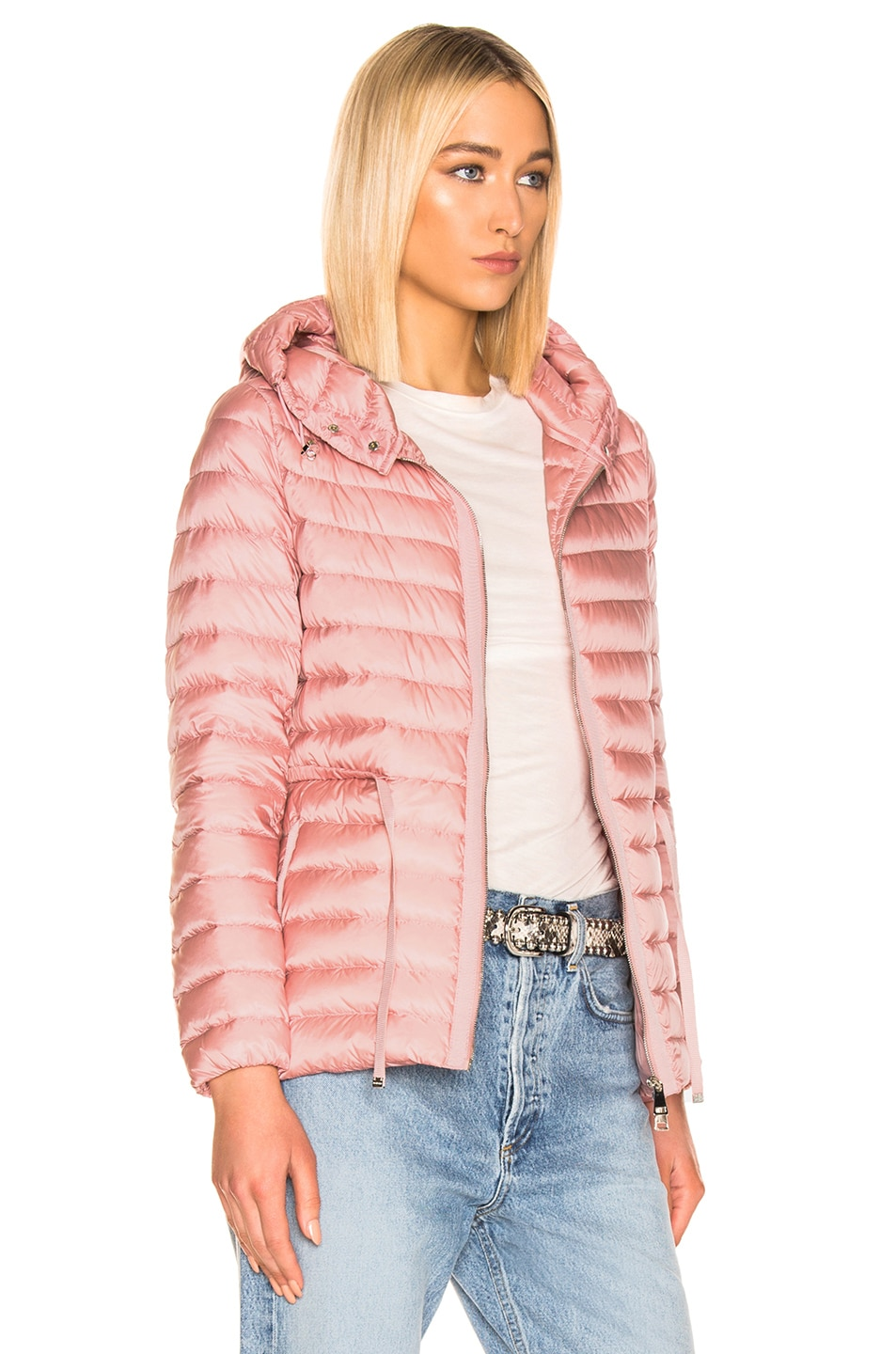 Image 3 of Moncler Raie Short Parka in Blush