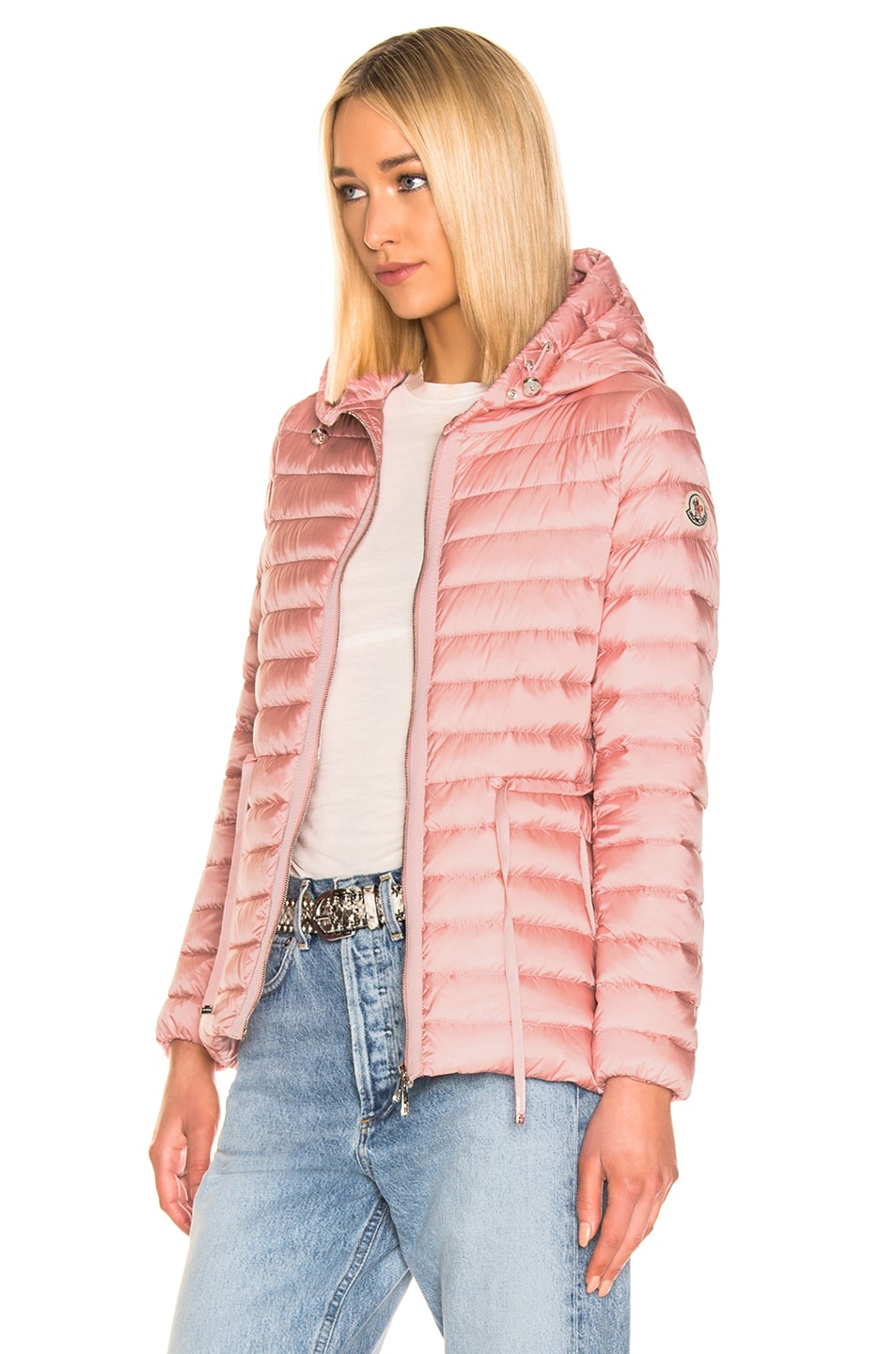 Image 4 of Moncler Raie Short Parka in Blush