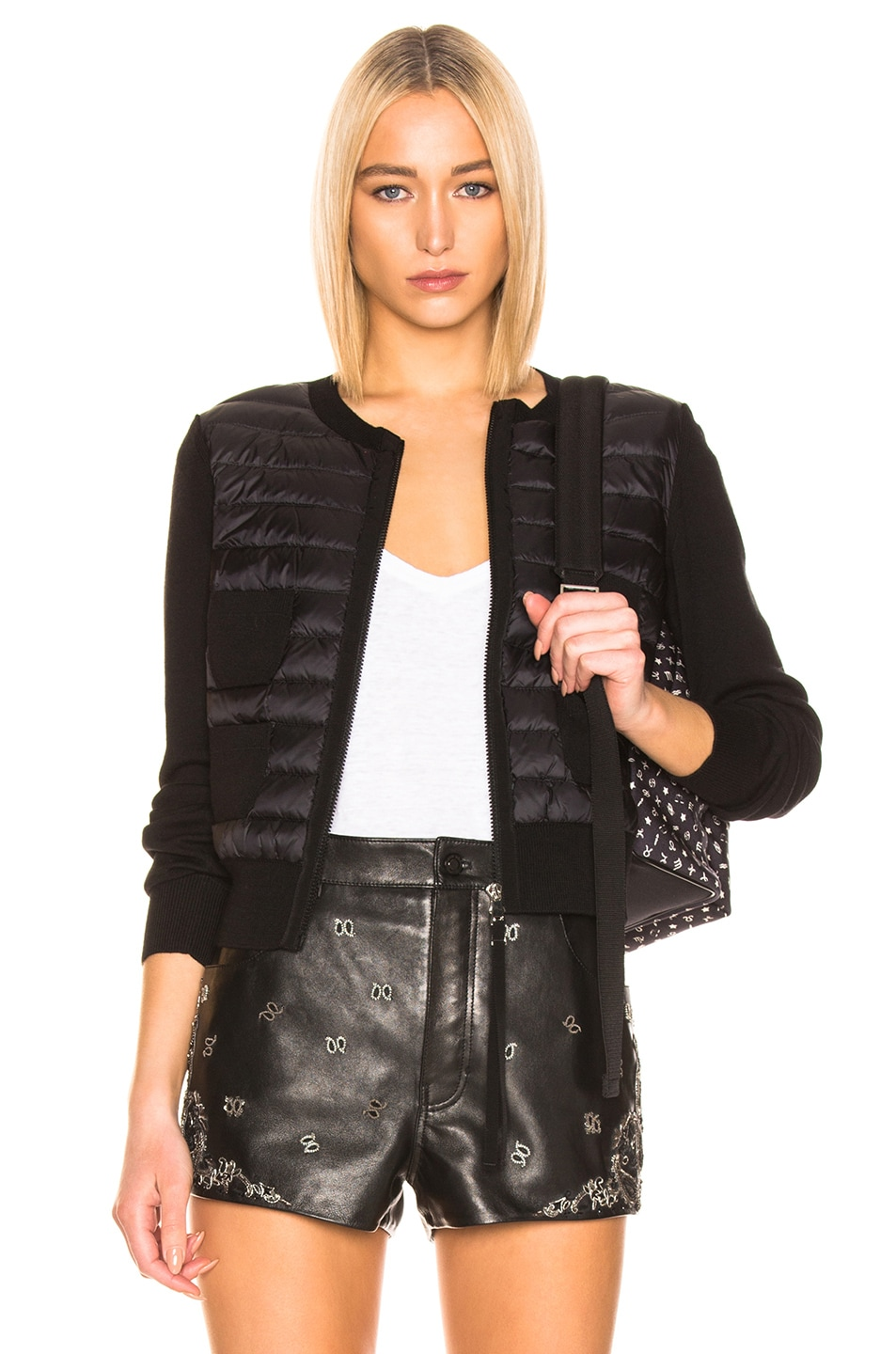 Image 1 of Moncler Maglione Tricot Jacket in Black