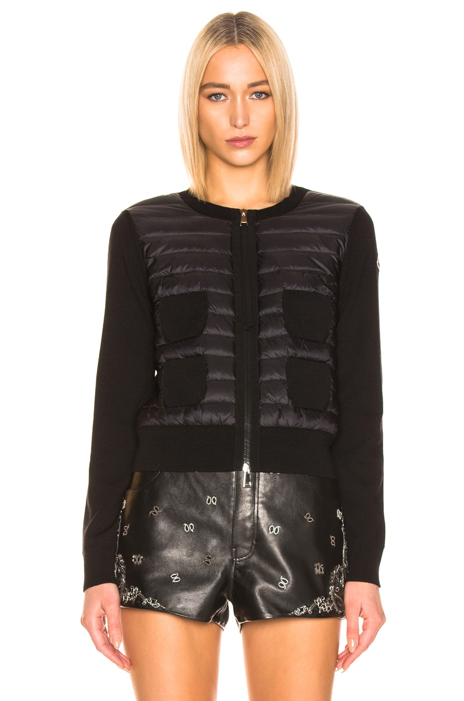 Image 2 of Moncler Maglione Tricot Jacket in Black