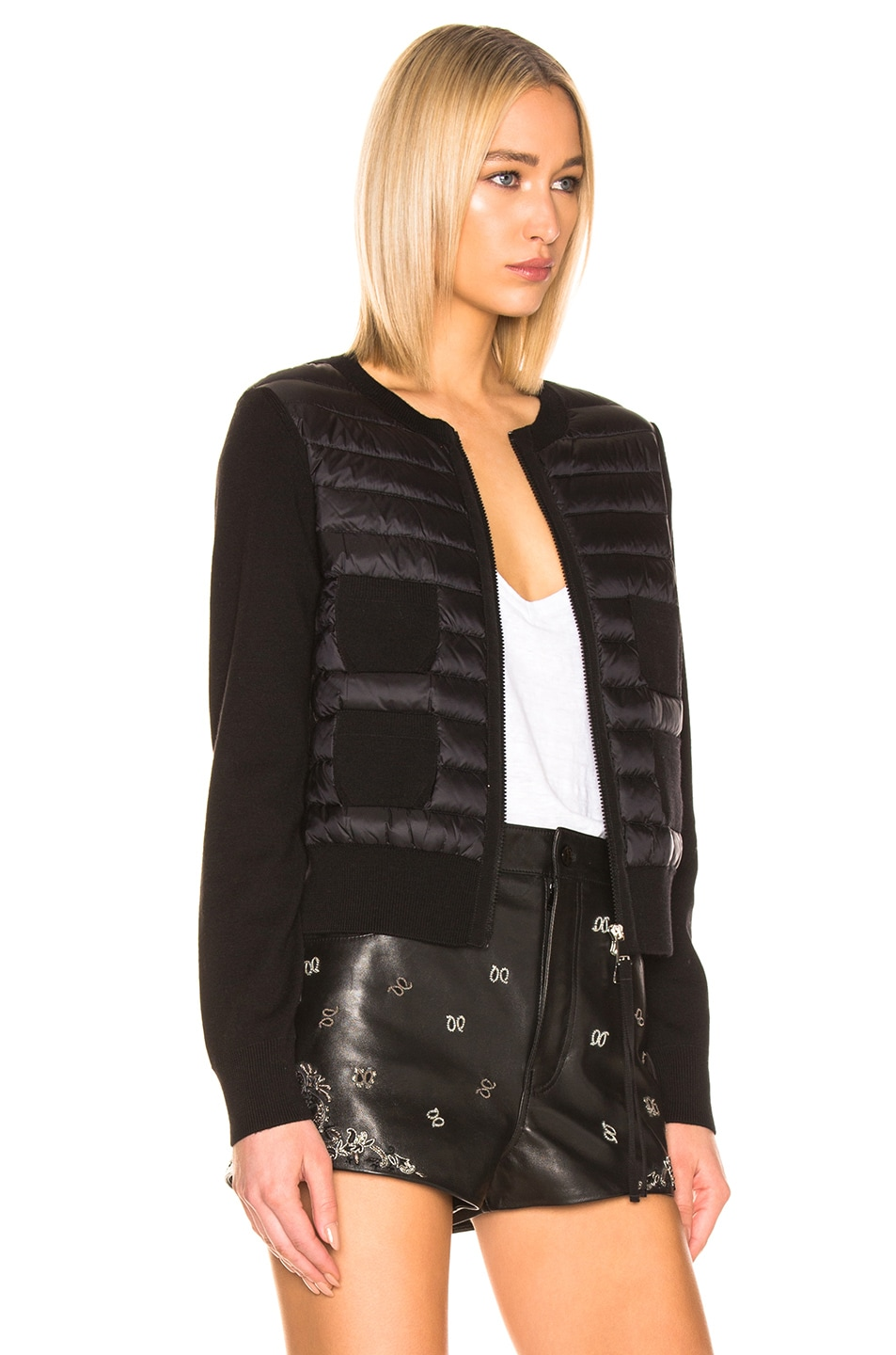 Image 3 of Moncler Maglione Tricot Jacket in Black