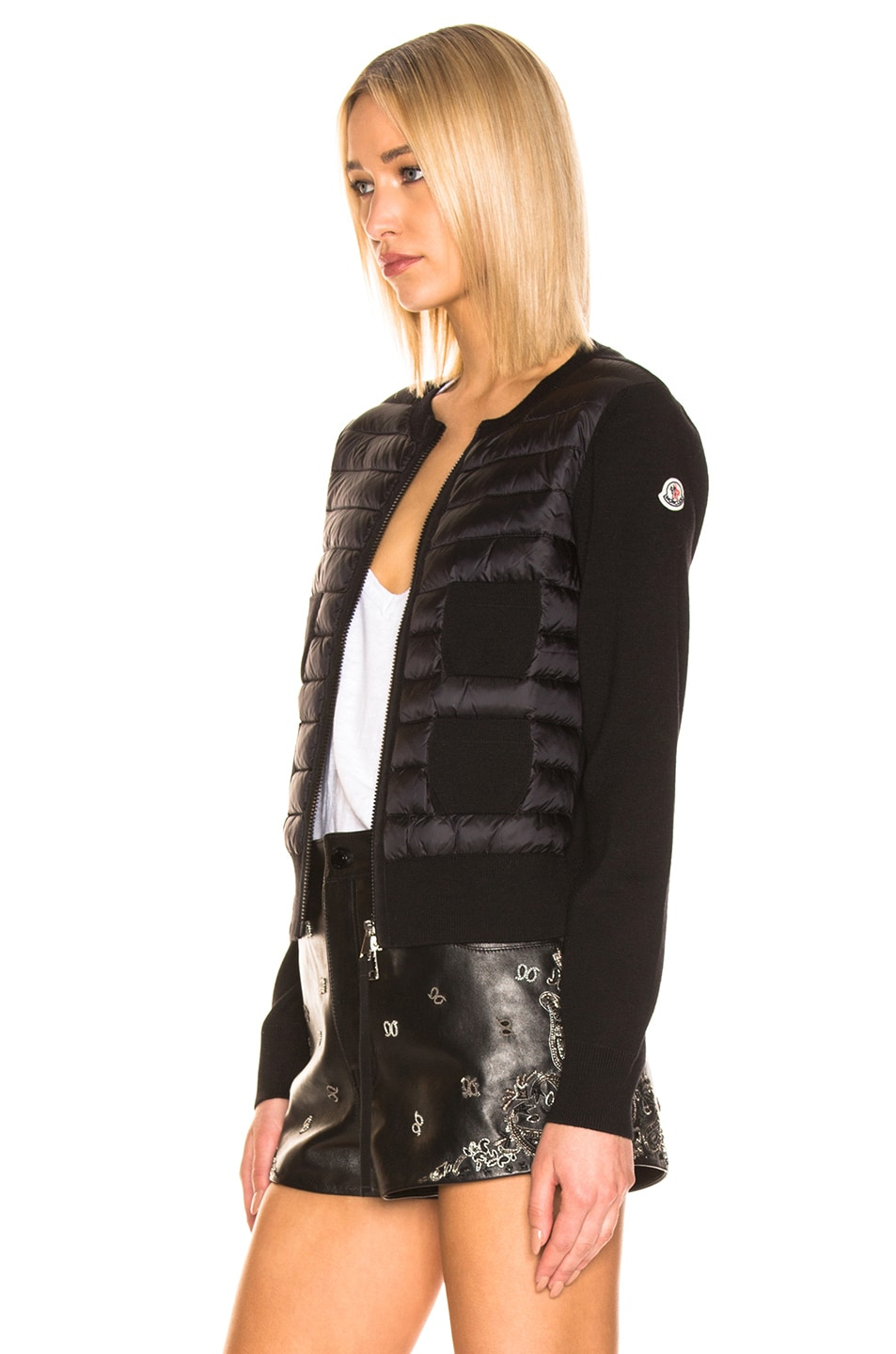 Image 4 of Moncler Maglione Tricot Jacket in Black