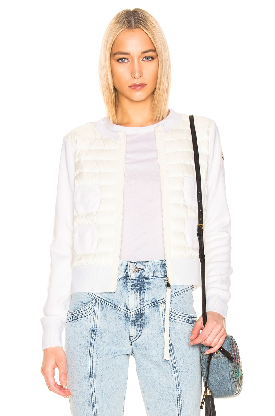 Image 1 of Moncler Maglione Tricot Jacket in White