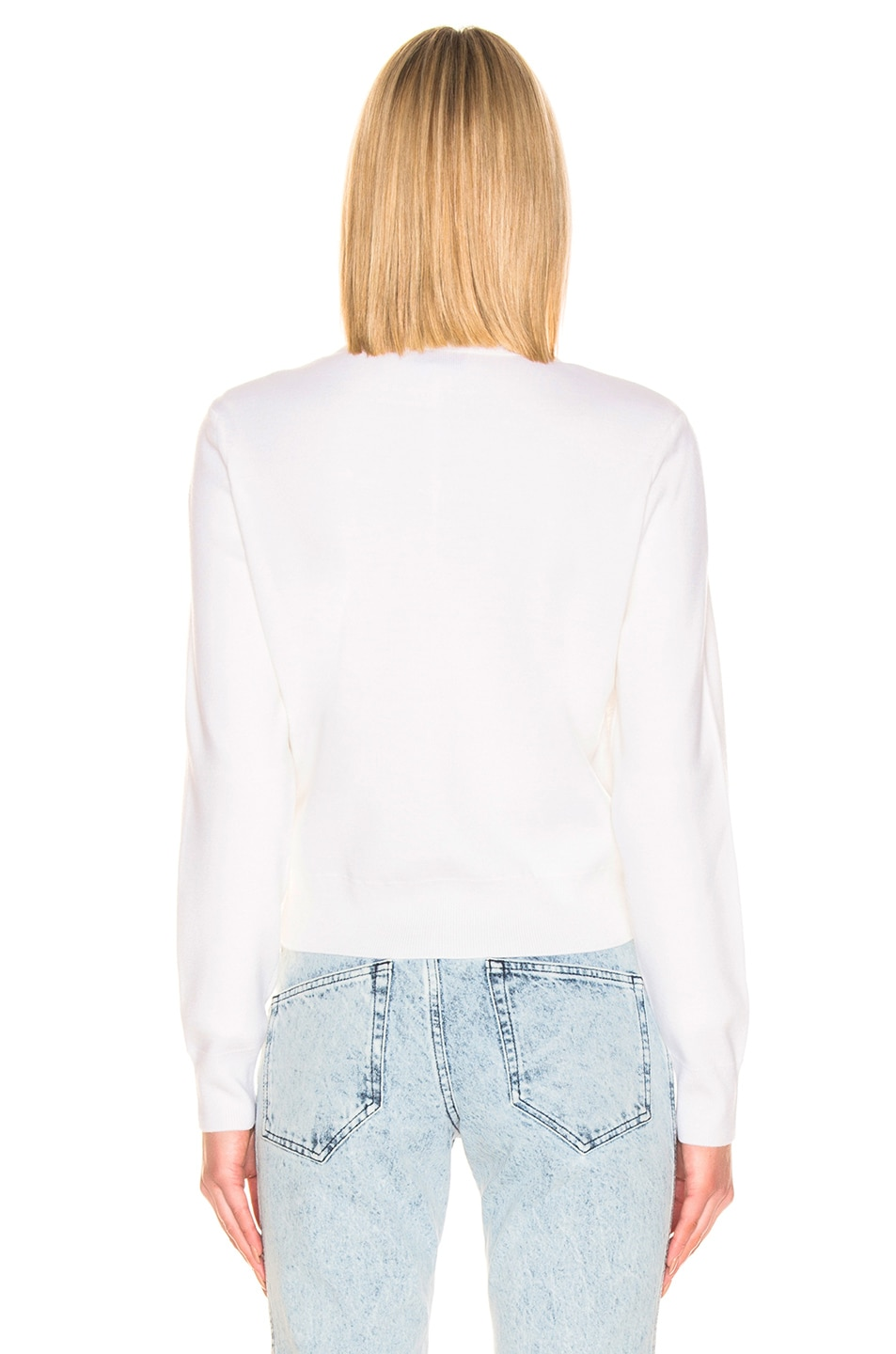 Image 5 of Moncler Maglione Tricot Jacket in White