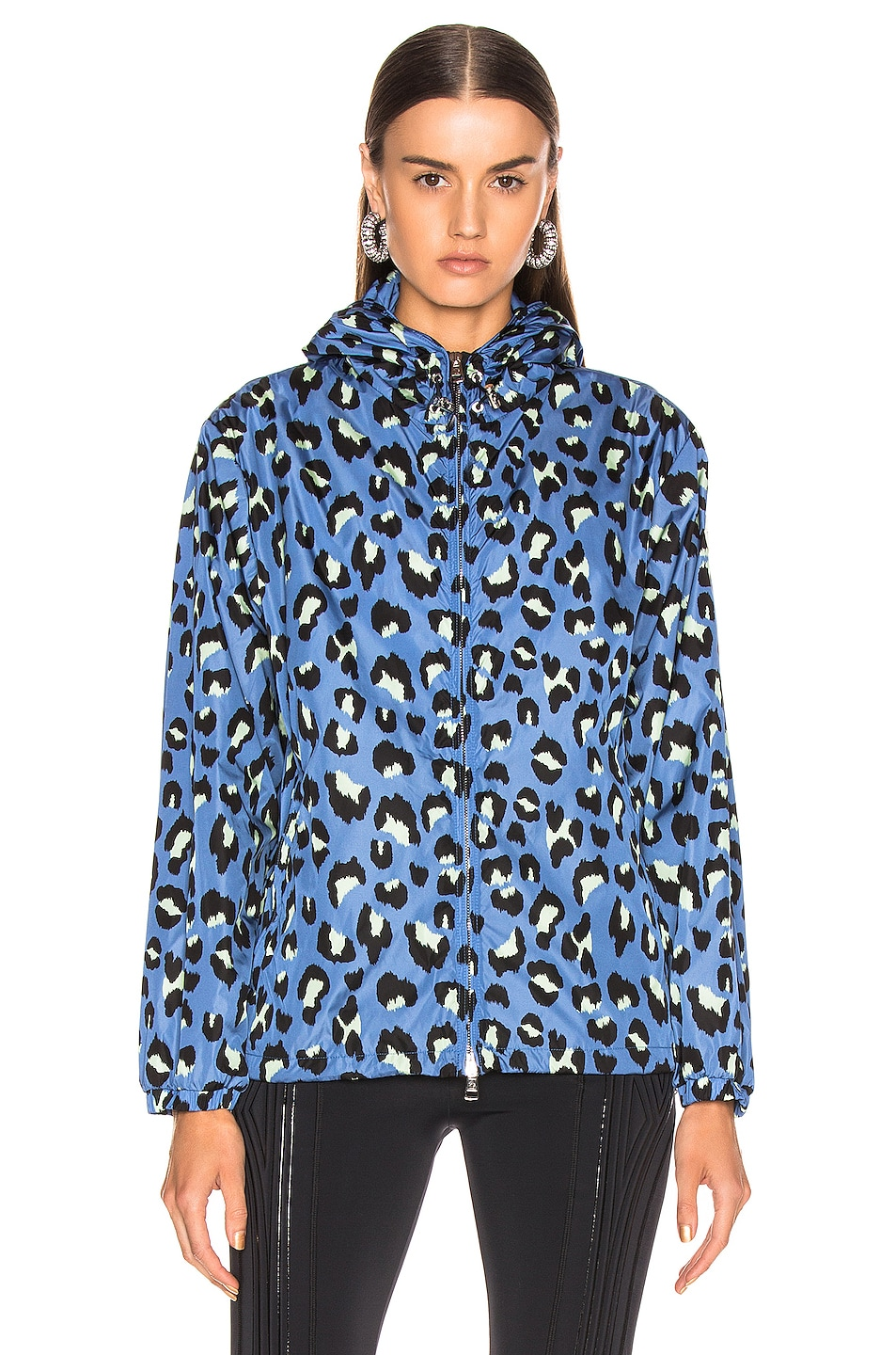 Image 3 of Moncler Alexandrite Jacket in Blue Leopard