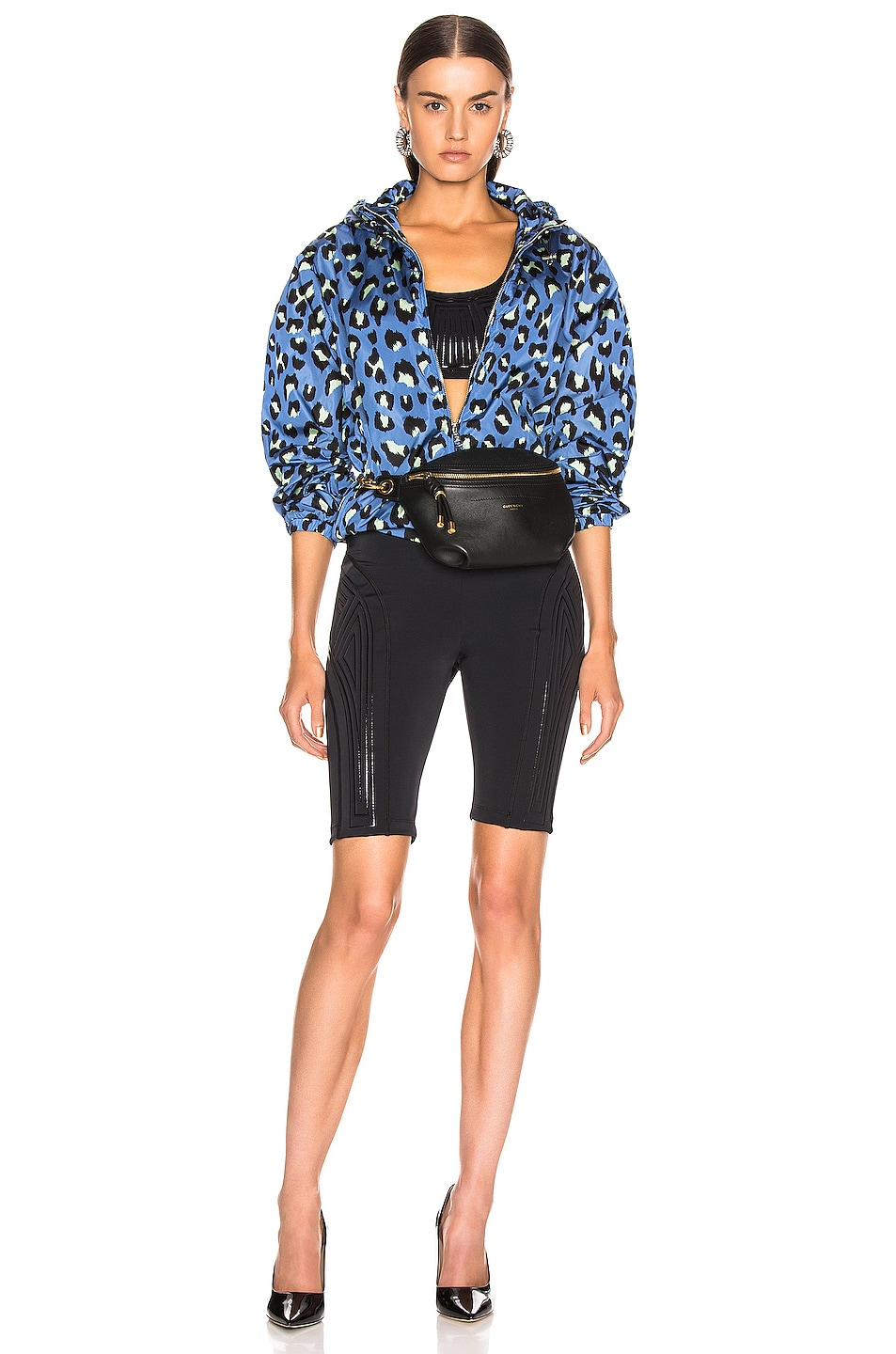 Image 6 of Moncler Alexandrite Jacket in Blue Leopard