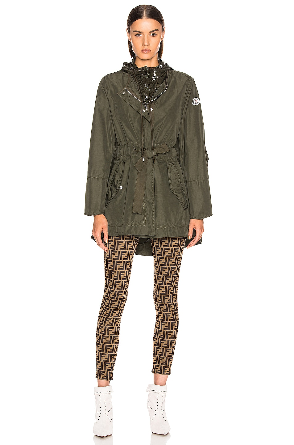 Image 3 of Moncler Mascate Jacket in Army Green