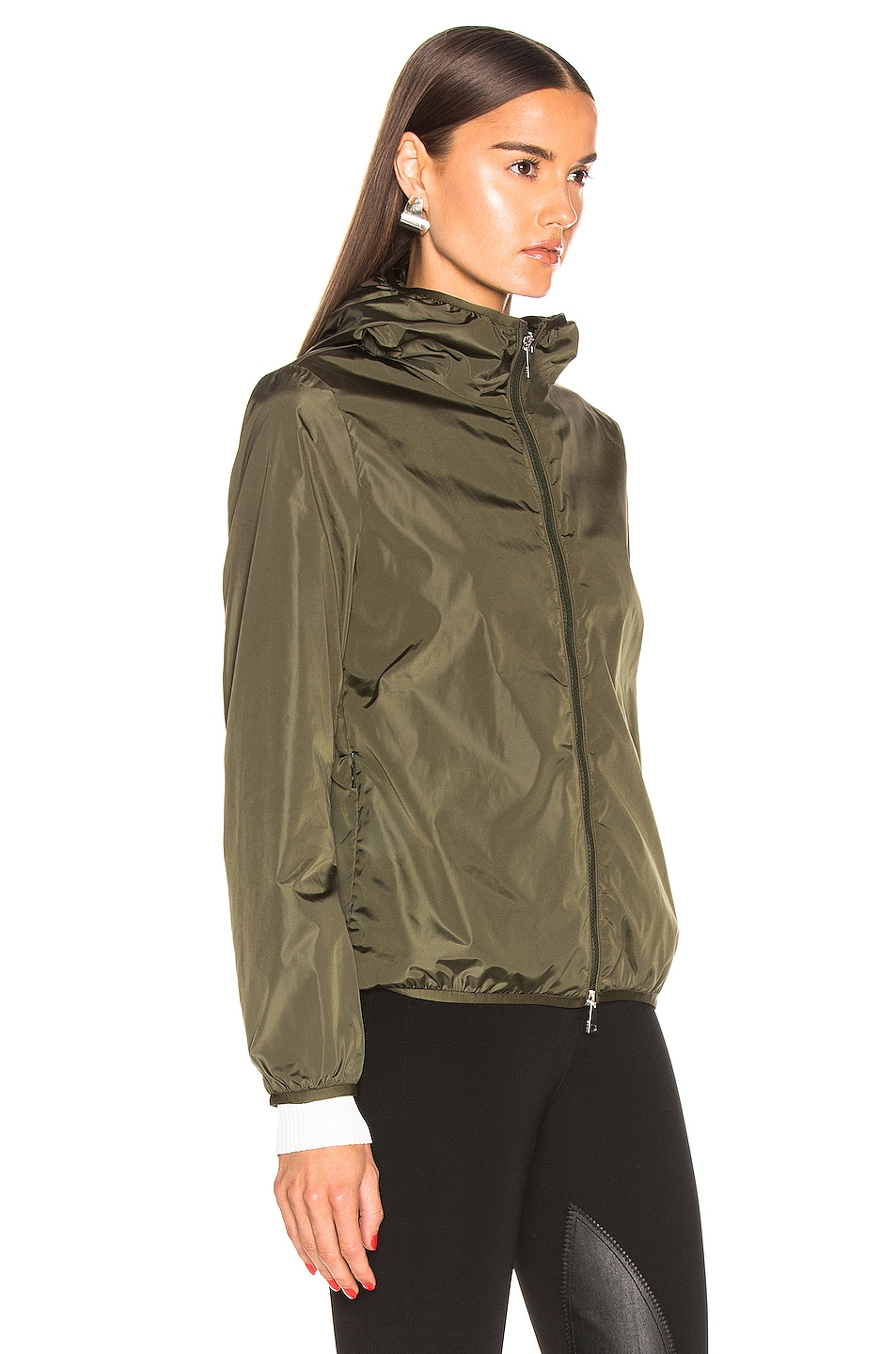 Image 3 of Moncler Vive Jacket in Olive
