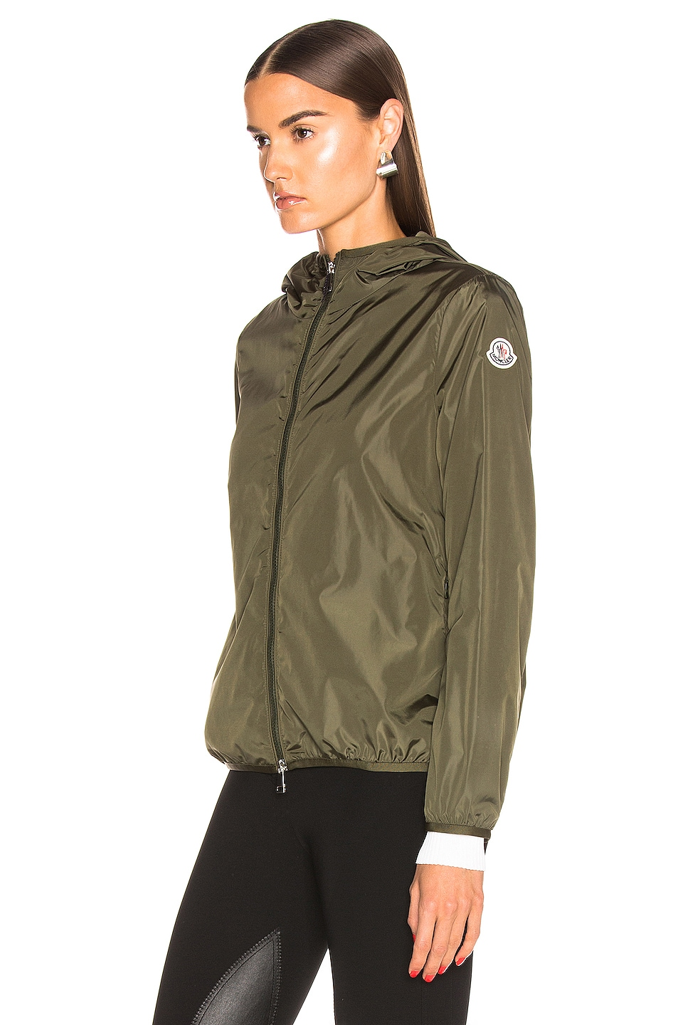 Image 4 of Moncler Vive Jacket in Olive