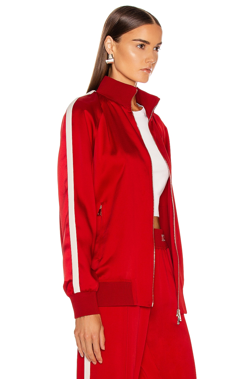Image 3 of Moncler Logo Track Jacket in Red