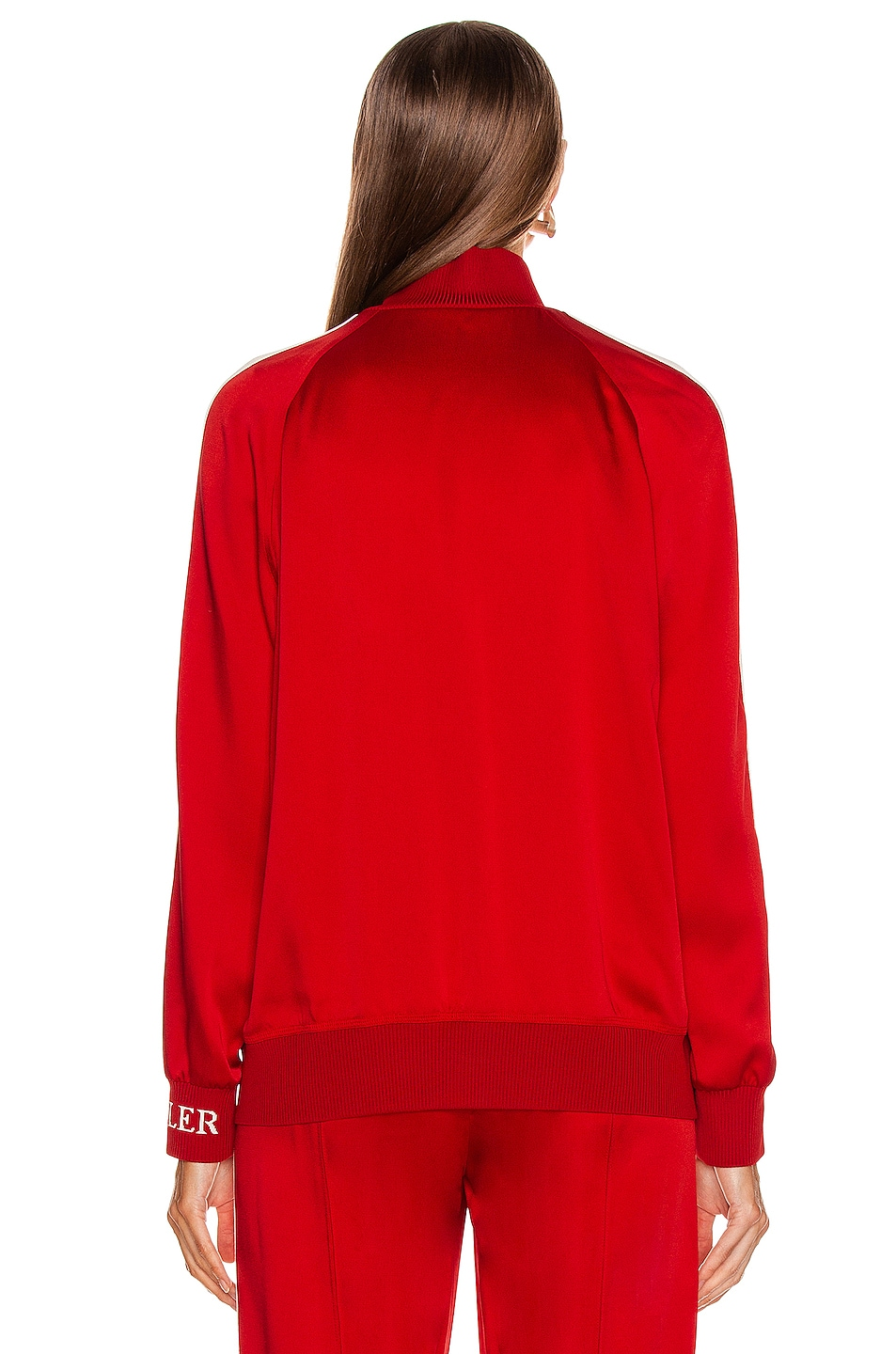 Image 5 of Moncler Logo Track Jacket in Red