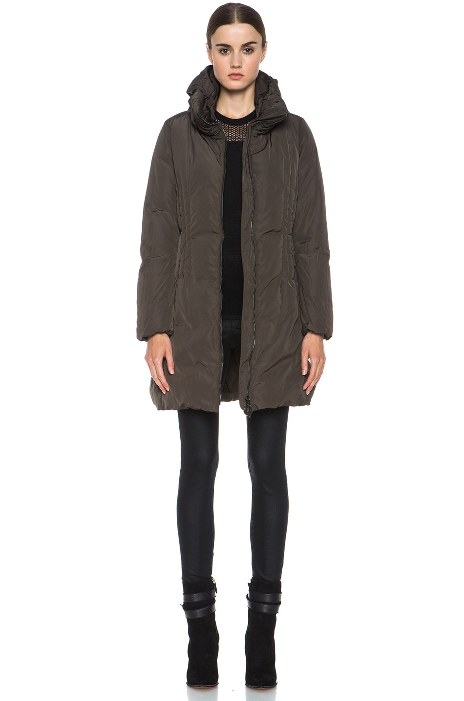 Image 1 of MONCLER Renne Poly Coat in Olive